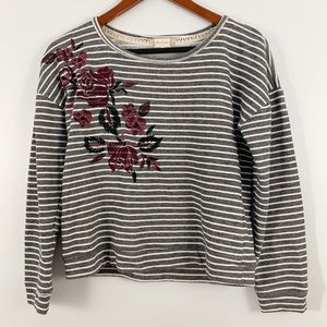 Altar'd State . Floral Embroidered Sweater . S